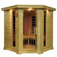 Large 5 Person Corner Carbon Sauna with 12 Heaters