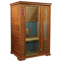 2 Person Red Cedar Sauna w/ 5 Carbon Heaters