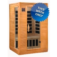 2-3 Person Color Therapy Sauna w/ MP3 Hook-Up & 6 Carbon Tech Heaters ( INVENTORY BLOWOUT SALE )