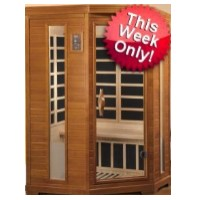 2-3 Person Infrared Sauna with 7 Carbon Heaters