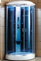 Zen Brand New Acrylic Steam Sauna Shower Corner Unit