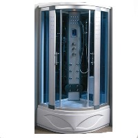 Comforting Corner Shower Room With Massage Jets & LCD Display
