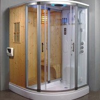 Aglow Dry Sauna With Shower Steam Room Combination