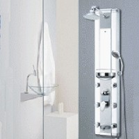 Zen Brand New Aluminum Shower Panel Rain Style Massage System