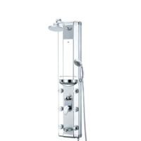 Zen Brand New Bathroom Aluminum Rain Style Shower Massage Panel
