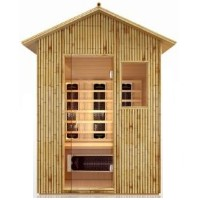 3 Person Bamboo All Weather Outdoor Far Infrared Sauna