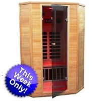 2 Person Infrared Sauna with Color Therapy