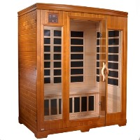 Brand New 3 Person Carbon FAR Infrared Sauna w/ MP3 Aux Input