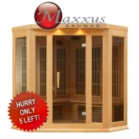 Brand New Maxxus Grand 2-3 Person Infrared Carbon Sauna