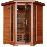Hudson Bay 3-4 Person Infrared Sauna with Carbon Heaters - Corner Unit