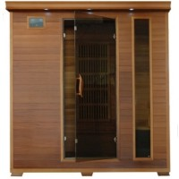 Klondike 4 Person Infrared Sauna with Carbon Heaters - Corner Unit