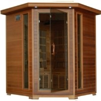 Whistler 4-5 Person Infrared Sauna with Carbon Heaters - Corner Unit