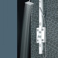 Thermostatic Shower Massager Tower With 4 Functions 6 Jets & Display