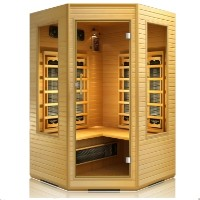 Brand New 3-4 Person Far Infrared Corner Sauna with Ceramic Heater