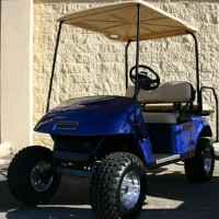 EZ-GO Lifted Blue 36 Volt Electric Golf Cart