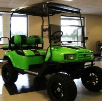 EZ-GO Lifted Lime Green 36 Volt Electric Golf Cart
