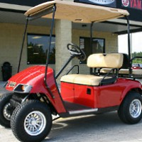 EZ-GO Red 36 Volt Electric Golf Cart