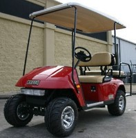 13 HP Kawasaki EZ-GO Red 4 Seater Gas Golf Cart