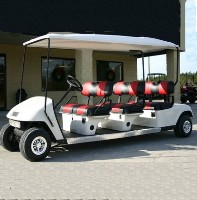 EZ-GO 48 Volt White Stretch Limo 6 Passenger Gas Golf Cart