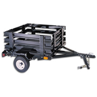 "Brand New 4' x 5"" Bed Size Utility Cargo Box Flat Bed Trailer"