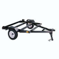 "50"" x 62"" Black Heavy Duty Utility Trailer w/ 1800 lbs Capacity"