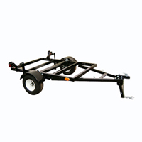 "50"" x 72"" Black Foldable Utility Trailer w/ 1550 lbs Capacity"