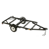 "50"" x 98"" Black Foldable Utility Trailer w/ 1550 lbs Capacity"